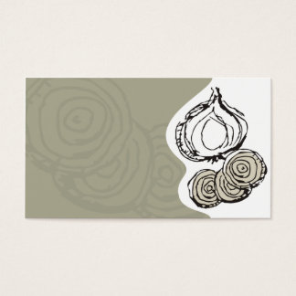 onion doodles cooking chef catering business card