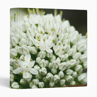 Onion flowers 3 ring binder