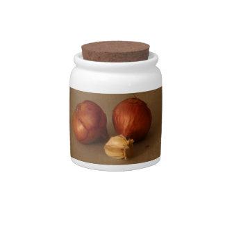 Onion & Garlic Candy Jar