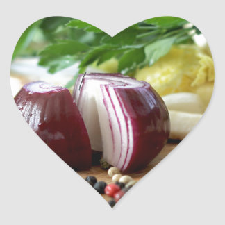 Onion Kitchen Heart Sticker