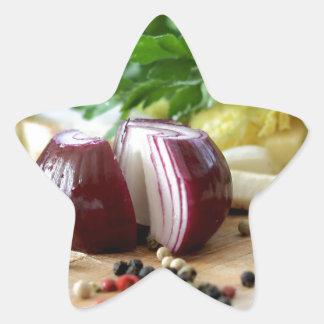 Onion Kitchen Star Sticker
