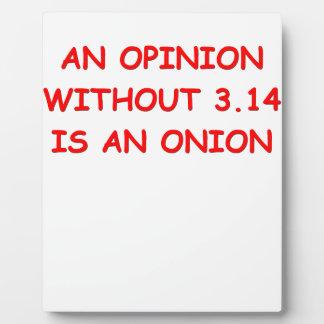onion opinion plaque