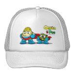 Onion & Pea characters hat. Gorros Bordados