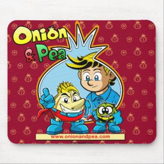 Onion & Pea mousepad. Mouse Pad