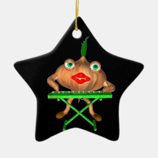 Onion Peels keyboard by Valxart Double-Sided Star Ceramic Christmas Ornament