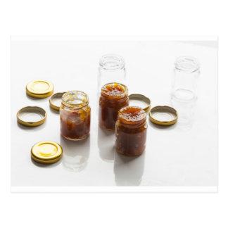 Onion pineapple chutney ingredients and preparatio postcard