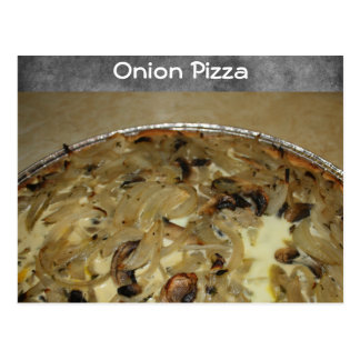 Onion Pizza Recipe Postcard