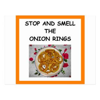 onion ring postcard