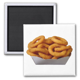 Onion Rings 2 Inch Square Magnet