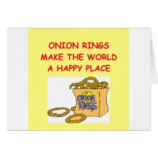 onion rings greeting card