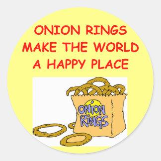 onion rings classic round sticker