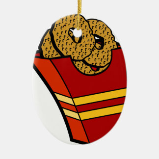 Onion Rings Fast Food Graphic Ceramic Ornament
