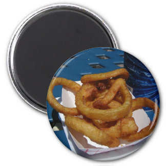 Onion Rings Fried 2 Inch Round Magnet