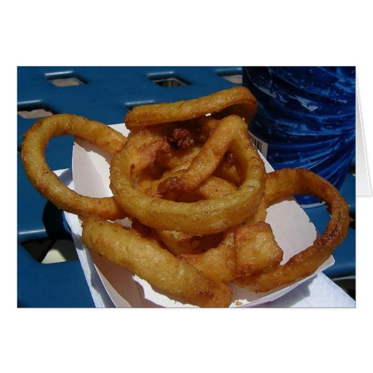Onion Rings Fried Card