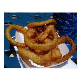Onion Rings Fried Postcard