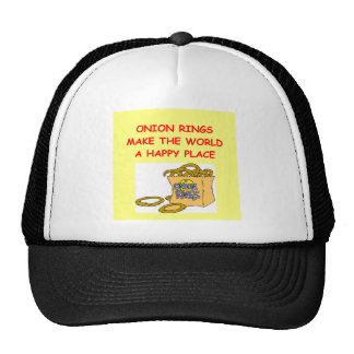 onion rings mesh hats