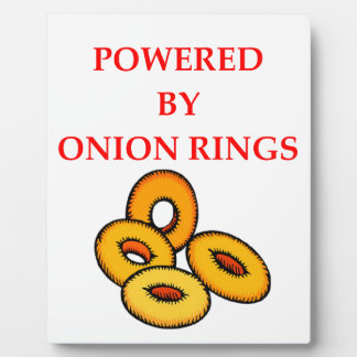 ONION RINGS PLAQUE