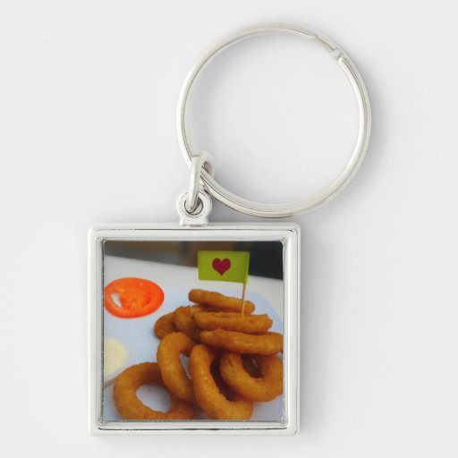 Onion Rings with Mayonnaise and Tomato Key Chains