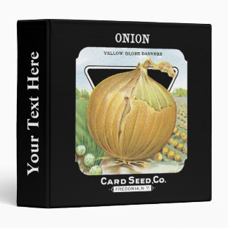 Onion Seed Packet Label 3 Ring Binder