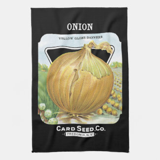 Onion Seed Packet Label Hand Towels