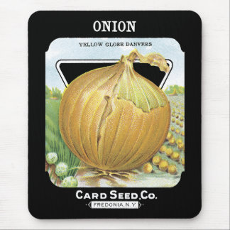 Onion Seed Packet Label Mouse Pad