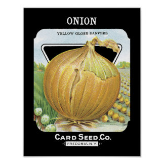 Onion Seed Packet Label Poster