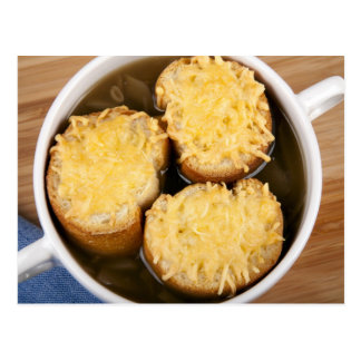 Onion Soup with Cheese Croutons Postcard