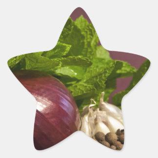 Onion Star Sticker