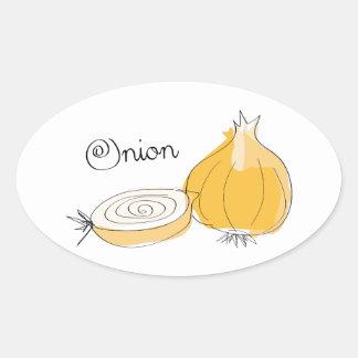 Onion Oval Sticker