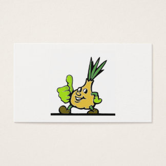 Onion With Thumbs Up Business Card