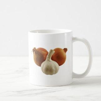 Onions and garlic coffee mug