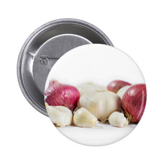 Onions And Garlic Pinback Button