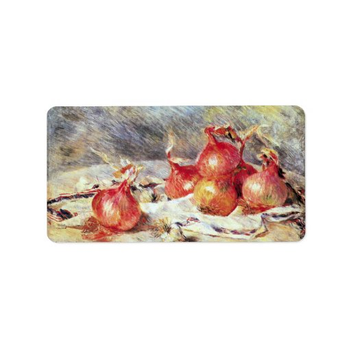 Onions by Pierre Renoir Custom Address Labels