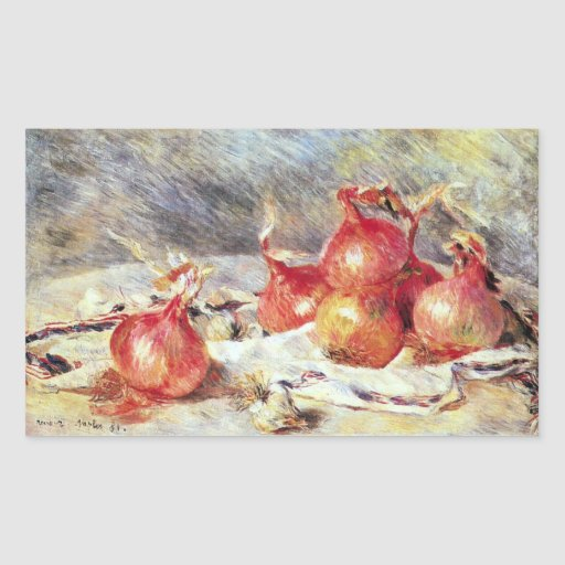 Onions by Pierre Renoir Rectangular Sticker