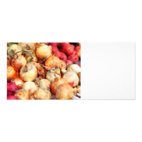 Onions Closeup Rack Card