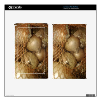 Onions In Net, Food Vegetables, Spicy Cooking Kindle Fire Skins