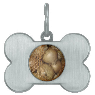 Onions In Net, Food Vegetables, Spicy Cooking Pet Name Tag
