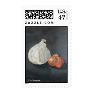 Onions Postage Stamp