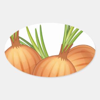 onions oval sticker