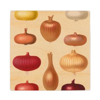 Onions Wood Coaster