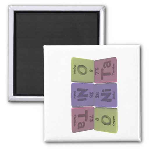 Onita as Oxygen Nickel Tantalum 2 Inch Square Magnet