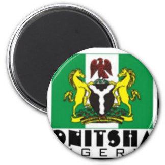 Onitsha, camiseta de Nigeria y etc Imán Redondo 5 Cm