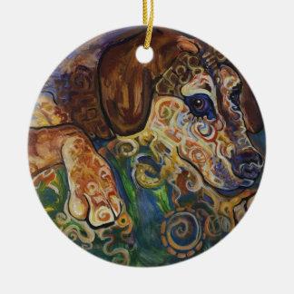 Ónix #1 adorno redondo de cerámica