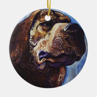 Ónix #2 adorno redondo de cerámica