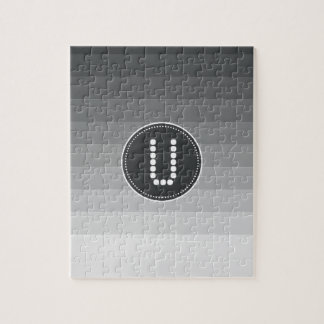 Ónix con monograma rompecabezas