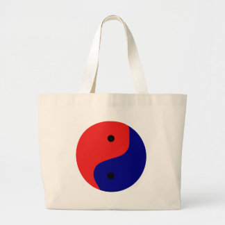Onizuka Network-Blue Yin Yang Large Tote Bag