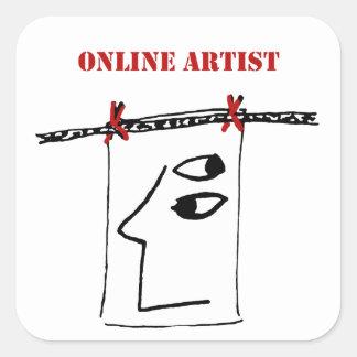 Online Artist Sticker