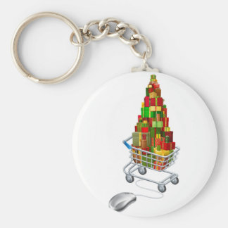 Online Christmas gift shopping Key Chains