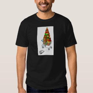 Online Christmas gift shopping T-shirt