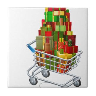 Online Christmas gift shopping Tile